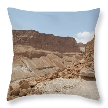 Ascension To Masada - Judean Desert, Israel Throw Pillow by Yoel Koskas