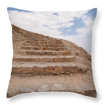 Stairway To Heaven - Masada, Judean Desert, Israel Throw Pillow by Yoel Koskas
