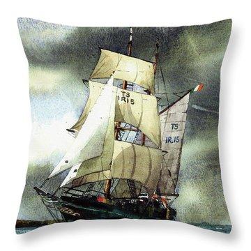 F  758  Asgard 11 Often Sailed Along The Wild Atlantic Way Throw Pillow