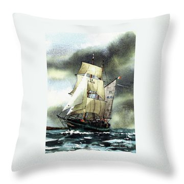 F  758  Asgard 11 Often Sailed Along The Wild Atlantic Way Throw Pillow