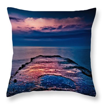 Ashbridges Bay Toronto Canada Dock At Sunrise No 1 Throw Pillow by Brian Carson