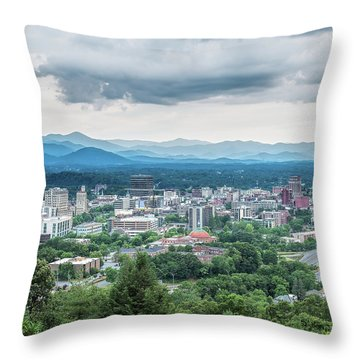 Asheville Afternoon Cropped Throw Pillow