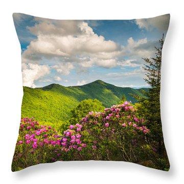 Asheville Nc Blue Ridge Parkway Pinnacle Throw Pillow