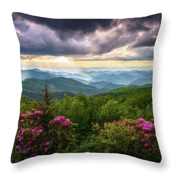 Asheville Nc Blue Ridge Parkway Scenic Landscape Photography Throw Pillow