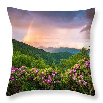 Asheville North Carolina Blue Ridge Parkway Scenic Landscape Throw Pillow