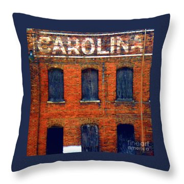 Asheville River District Throw Pillow