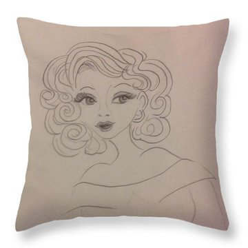 Ashley Barbour Throw Pillow by Philip Bracco