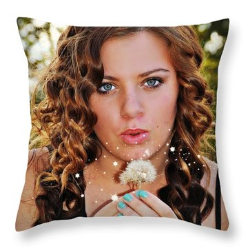 Ashley Throw Pillow by Mindy Bench