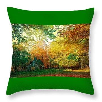 Ashridge Autumn Throw Pillow by Anne Kotan