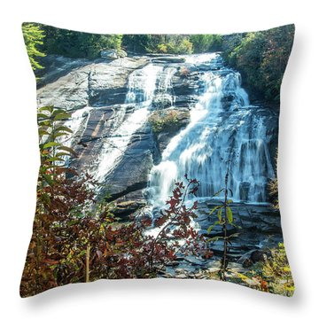Throw Pillow featuring the photograph Ashville Area Waterfall by Richard Goldman