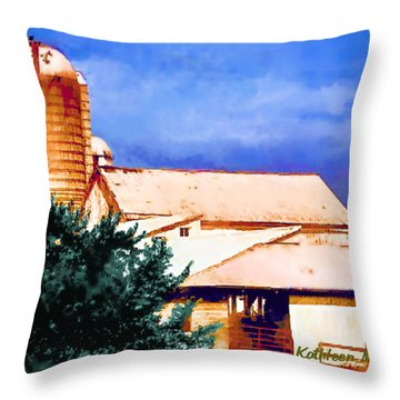 Throw Pillow featuring the photograph Ashville Silo by KLM Kathel