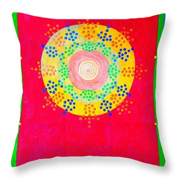 Asia Sun Throw Pillow