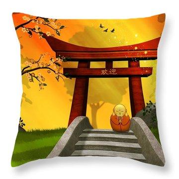 Asian Art Chinese Spring Throw Pillow by John Wills