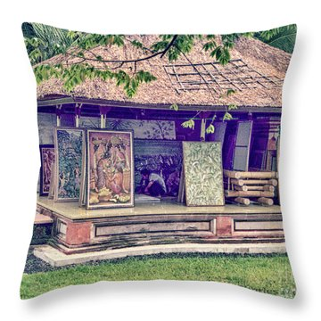 Throw Pillow featuring the photograph Asian Artist by Charles McKelroy