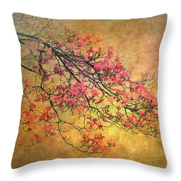 Asian Dogwood Throw Pillow