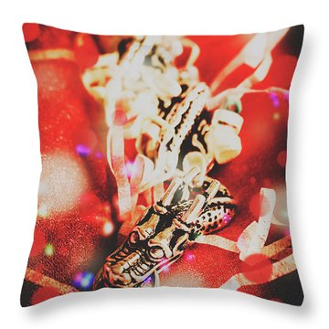 Asian Dragon Festival Throw Pillow
