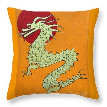 Asian Dragon Icon No. 1 Throw Pillow