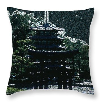 Asian Moon Throw Pillow by Shirley Heyn
