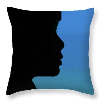 Mystery Woman Throw Pillow by John Janicki