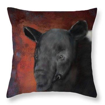 Asian Tapir Throw Pillow