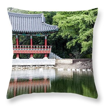 Asian Theater Throw Pillow