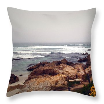 Asilomar Beach Pacific Grove Ca Usa Throw Pillow