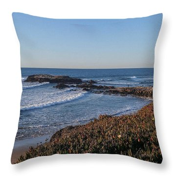 Asilomar Shoreline Throw Pillow