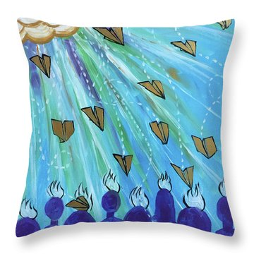 Throw Pillow featuring the painting Ask Of Me by Nathan Rhoads