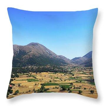 Askifou Plateau Panorama Throw Pillow
