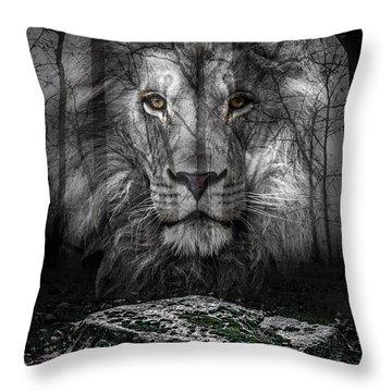 Aslan And The Stone Table Throw Pillow
