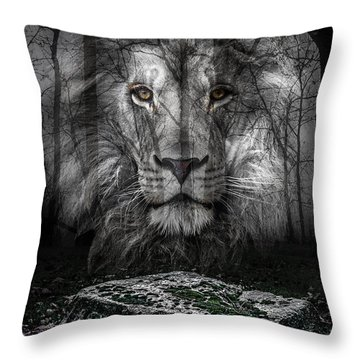 Aslan And The Stone Table Throw Pillow
