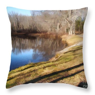 Throw Pillow featuring the photograph Aslant by Betsy Zimmerli