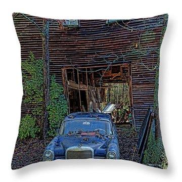 Asleep At The Wheel Throw Pillow
