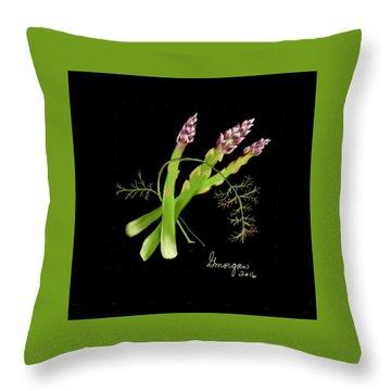 Asparagas  Throw Pillow