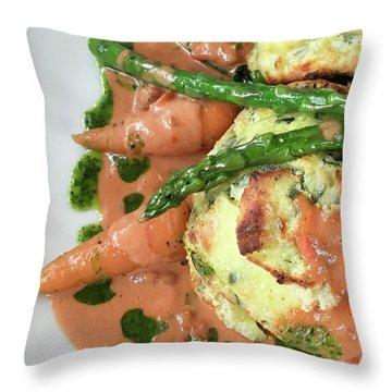 Asparagus Dish Throw Pillow