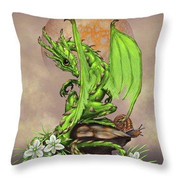 Asparagus Dragon Throw Pillow