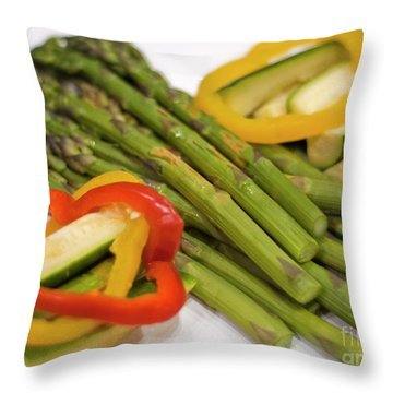 Asparagus Throw Pillow by Loriannah Hespe