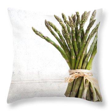 Asparagus Vintage Throw Pillow