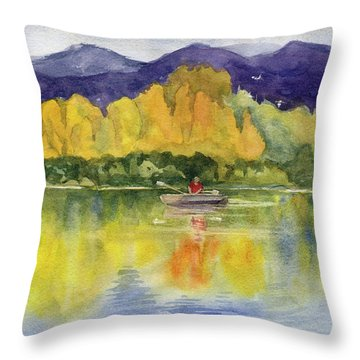 Aspen Afternoon Throw Pillow by Kris Parins