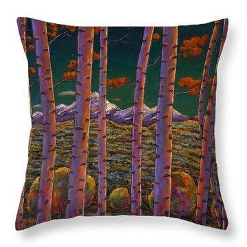 Aspen At Night Throw Pillow