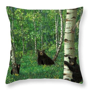 Aspen Bear Nursery Throw Pillow