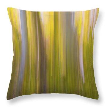 Aspen Blur #6 Throw Pillow