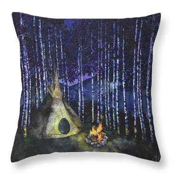 Aspen Camp Throw Pillow