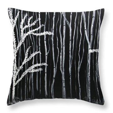 Aspen Forest Throw Pillow by Dolores  Deal