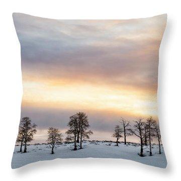 Aspen Hill At Sunset Throw Pillow