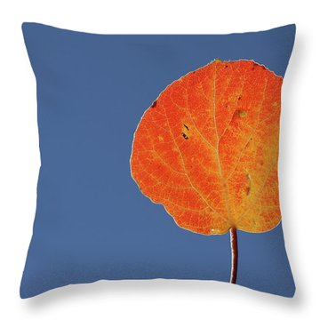 Aspen Leaf 1 Throw Pillow by Marie Leslie