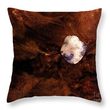 Aspen Leaf In Mud Wash Throw Pillow