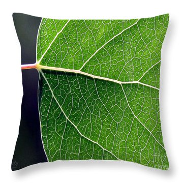 Aspen Leaf Veins Throw Pillow