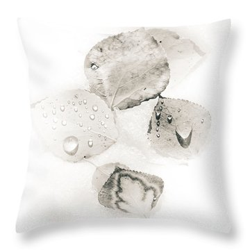 Throw Pillow featuring the photograph Aspen Leaves Of White by The Forests Edge Photography - Diane Sandoval