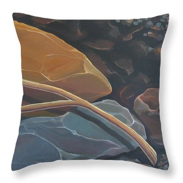 Aspen Rain Branch Throw Pillow
